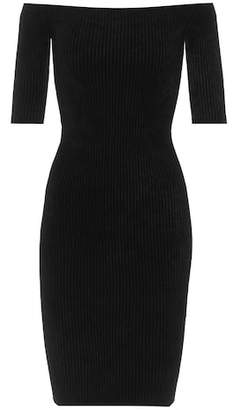 Helmut Lang Ribbed off-the-shoulder minidress