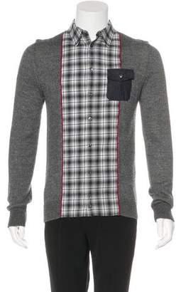 DSQUARED2 Alpaca & Silk-Trimmed Wool Shirt