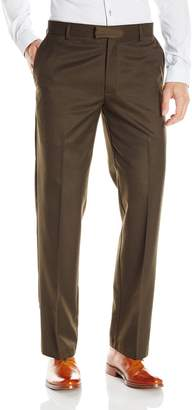 Dockers Tailored Dress Straight Fit Flat Front Pant, Olive Jackson, 36 29