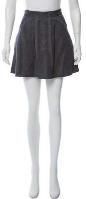 Les Prairies de Paris Striped Mini Skirt