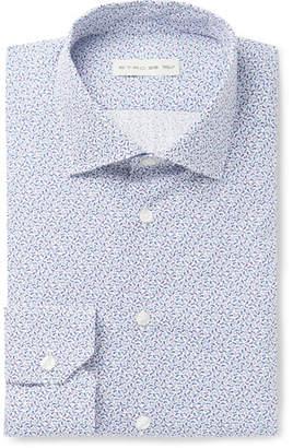 Etro Slim-Fit Paisley-Print Cotton-Poplin Shirt - Men - Blue