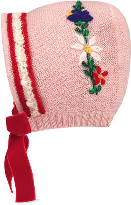 Baby knit hat with bow $225 thestylecure.com