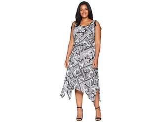 Lauren Ralph Lauren Plus Size Jersey Handkerchief Dress