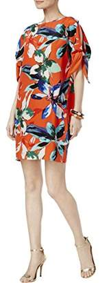 Vince Camuto Women's Printed CDC Cold Shoulder Shift Dress