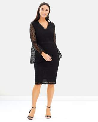 Isa Belle Isabelle Flare Sleeve Dress