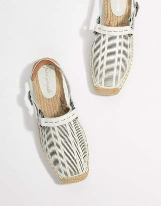 Free People Cabo lasercut leather espadrille