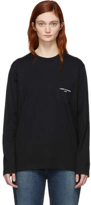 Comme des Garcons Black Logo Long Sleeve T-Shirt