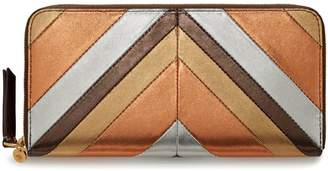 Mulberry 8 Card Zip Around Wallet Multicolour Metallic Nappa