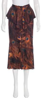 Givenchy Silk Midi Skirt w/ Tags