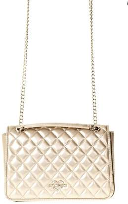 Love Moschino Gold Quilted Faux Leather Bag