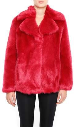 MICHAEL Michael Kors Faux Fur Pea Coat