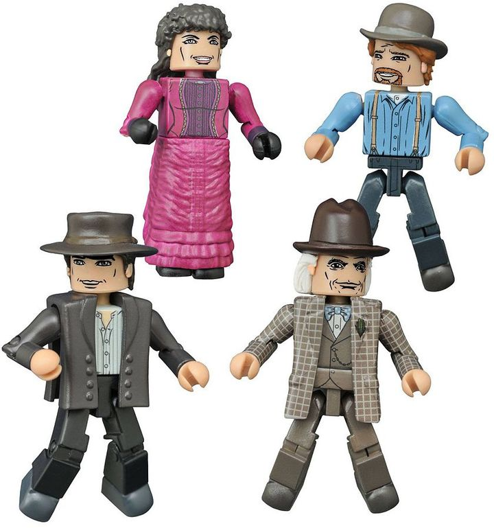 Diamond select toys Back to the Future Minimates 1885 Box Set by Diamond Select Toys