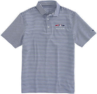 Vineyard Vines 2018 World Series Winstead Stripe Sankaty Performance Polo