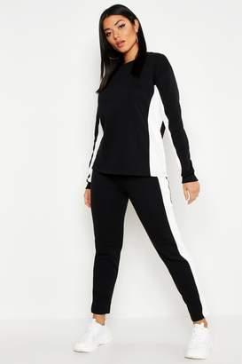boohoo Colour Block Straight Leg Jogger