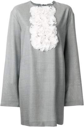 Lardini rouche bib shift dress