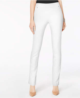 INC International Concepts I.n.c. Curvy Pull-On Straight-Leg Pants, Created for Macy's
