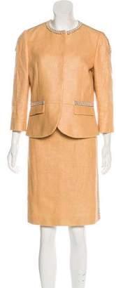 Fendi Embellished Skirt Suit