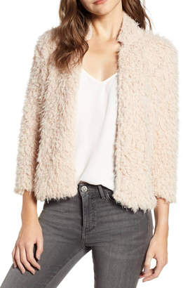 Bishop + Young Cropped Faux Fur Jacket