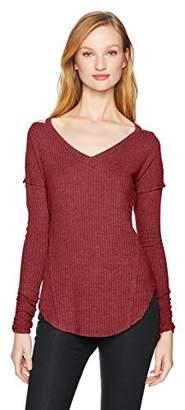 William Rast Women's Ives Cold Shoulder V-Neck Top