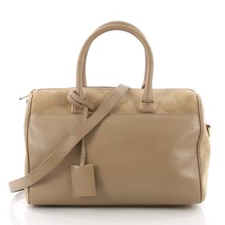 Saint Laurent Duffle Brown Leather Handbag