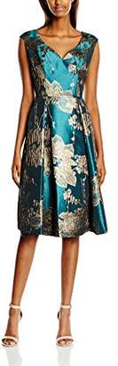 Adrianna Papell Women's Mid Length Fit and Flare Cocktail Floral Sleeveless Dress