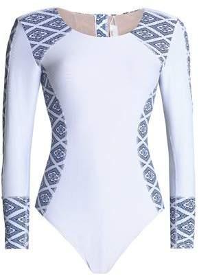 Tart Collections Pamona Paneled Printed Swimsuit
