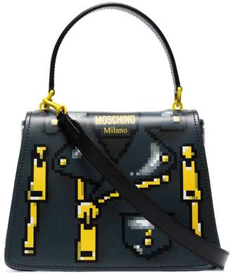 Moschino Pixelated jacket print shoulder bag