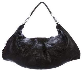 Alice + Olivia Leather Grained Hobo Bag