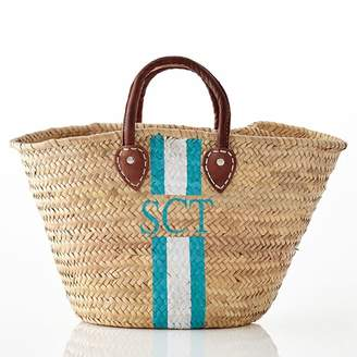 Mark And Graham Hand-Painted Straw Beach Bag