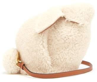 Loewe Bunny Shearling Cross Body Bag - Womens - White