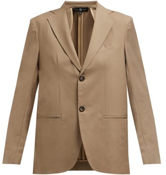 Edward Crutchley Single Breasted Wool Blazer - Womens - Beige