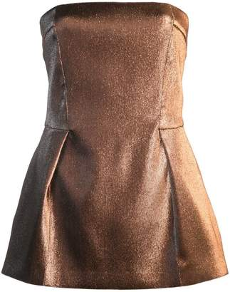 Roberto Cavalli sleeveless pleated peplum tube top