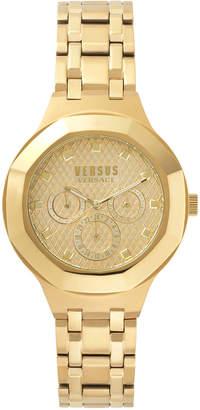 Versus By Versace Laguna City 40mm Round Gold IP Day/Date Watch with Bracelet