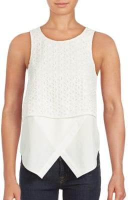 Embroidered Two-in-One Tank Top