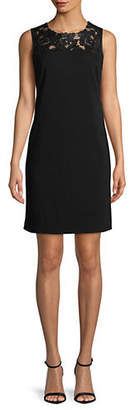 Karl Lagerfeld PARIS Lace-Trimmed Shift Dress