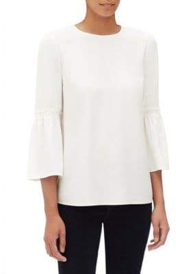 Lafayette 148 New York Lafayette 148 New York, Plus Size Roslin Silk Bell-Sleeve Blouse