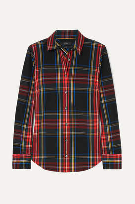 J.Crew Stretch Perfect Plaid Cotton-blend Shirt