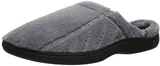 Isotoner Men's Terry Slip On Cushioned Slipper with Memory Foam for Indoor/Outdoor Comfort