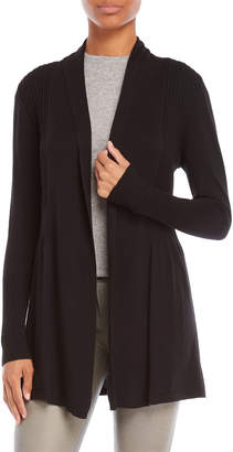 August Silk Ribbed Open Longline Cardigan