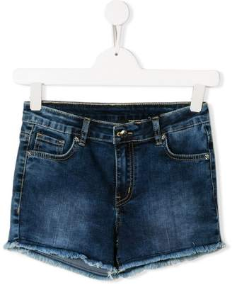 John Richmond Junior TEEN frayed denim shorts