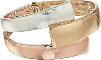 Robert Lee Morris Tricolore Tri-Tonal Bypass Bangle Bracelet
