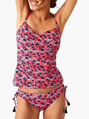 bf6102baf6 White Stuff Rio Floral Tankini Top, Carnival Pink