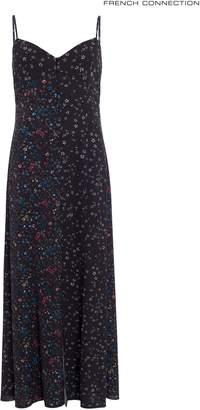 Next Womens French Connection Black Multi Print Maxi Slip Dress