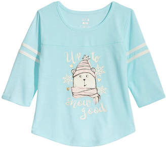 Max & Olivia Big Girls Unicorn Graphic Pajama Top