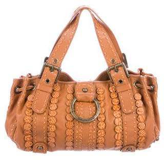 Isabella Fiore Embroidered Leather Hobo