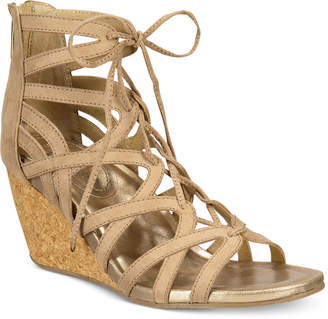 Kenneth Cole Reaction Women's Cake Pop Gladiator Lace-Up Wedge Sandals $79 thestylecure.com