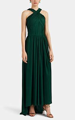 Zac Posen Women's Plissé Jersey Gown - Green