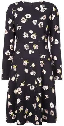Lela Rose floral print longsleeved dress