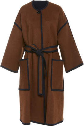 Rosetta Getty Reversible Wool Cocoon Coat