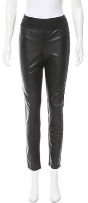 Paige Leather-Accented Leggings